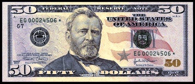 Doların üstündeki adam, Amerikan Doları Üzerindeki Adamlar Kimdir, Doların üzerindeki insanların isimleri nelerdir, Dolar üzerindeki amerikan başkanları, 50 Amerikan Doları, Ulysses S. Grant