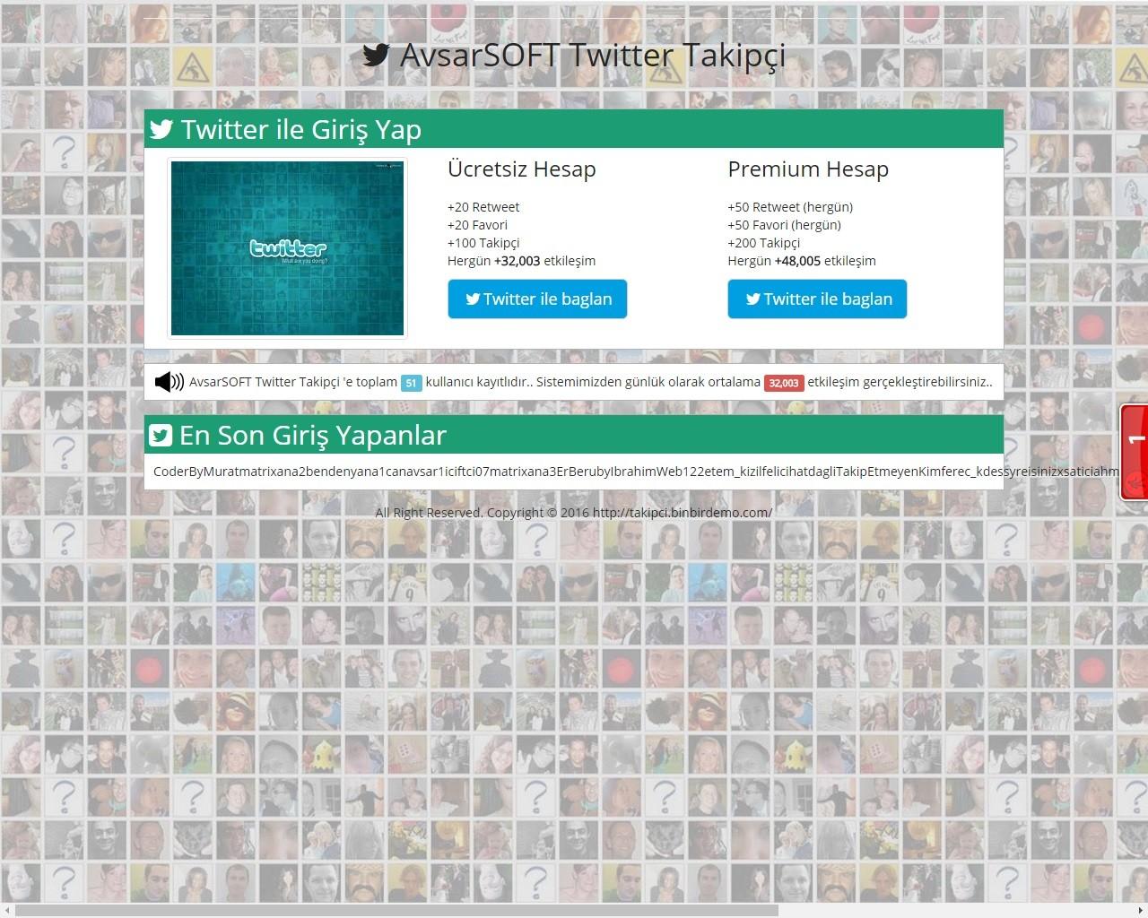 Ücretsiz Twitter Takipçi Scripti