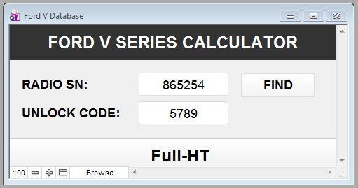 free ford radio code calculator online