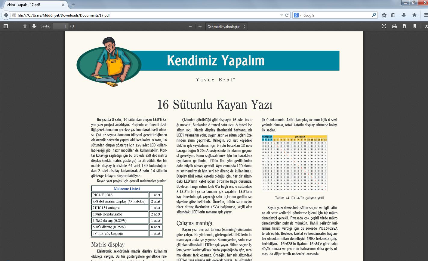 Mozilla Firefox için örnek pdf dosyası açma