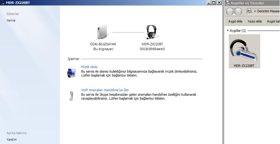 Bluetooth Kulaklık - Windows 7 Bağlantı Problemi » Sayfa 1 - 0