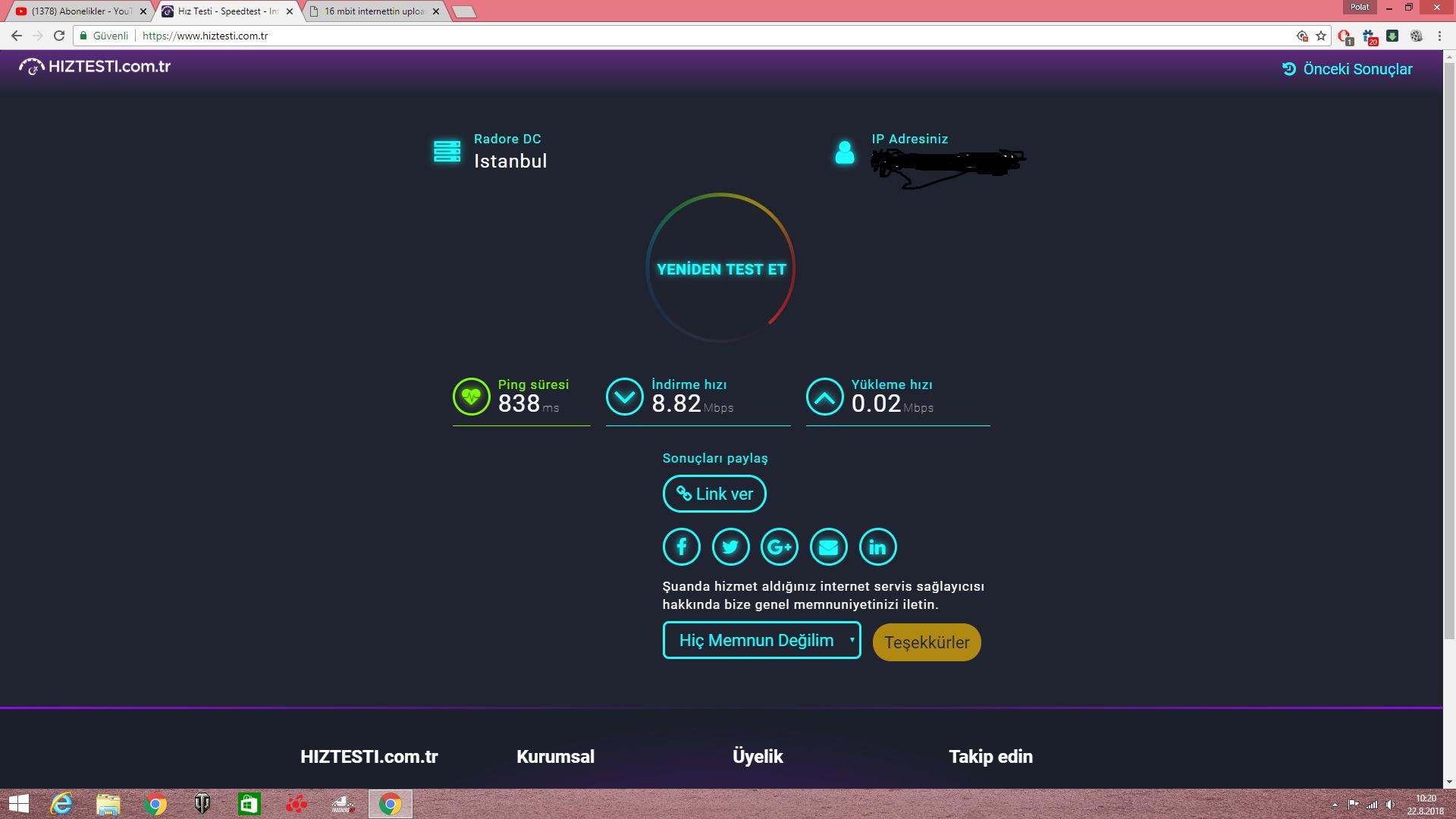 internet yavaş