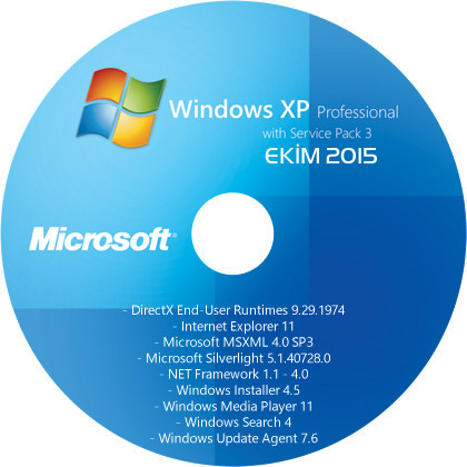 Windows XP Professional SP3 (x86) TR - Driver Edition [13 EKİM 2015]