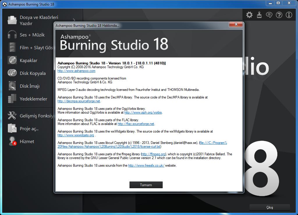 Ashampoo Burning Studio 18.0.1.11 | Katılımsız