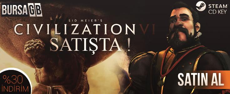 %35 Indirimli Civilization VI Steam Key Ön Siparisle BursaGB Stoklarinda