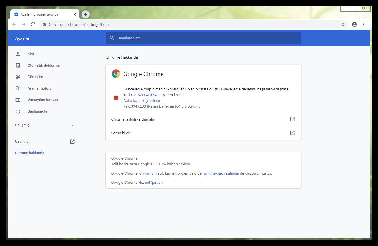 Google Chrome 80.0.3987.100 | Katılımsız