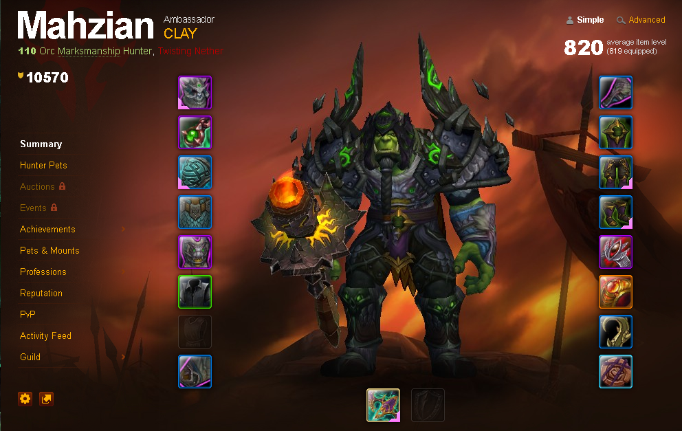Legion'lı 110 Orc Hunter-10.5k Achivement-137 Mount