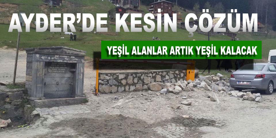 Ayder'de Yeşil Alanlara Araç Parkı Sorununa Kesin Çözüm