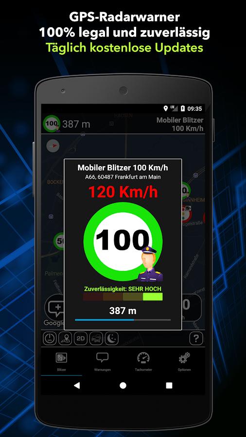 Radarwarner Gratis. Blitzer DE - Android Radar Programı