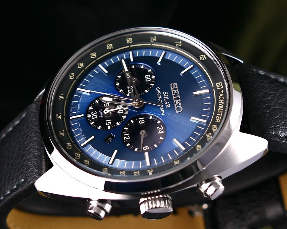 arrives 976bc 91fcd SEIKO Solar Chronograph Tachymeter SSC625 SSC625P1 Mens Watch