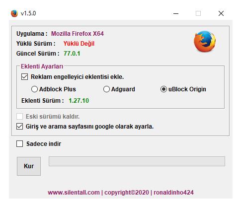 Mozilla Firefox Çevrimiçi Yükleyici v1.5.0 cover