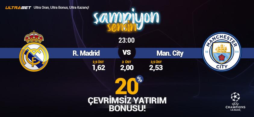 Real Madrid - M. City Canlı Maç İzle