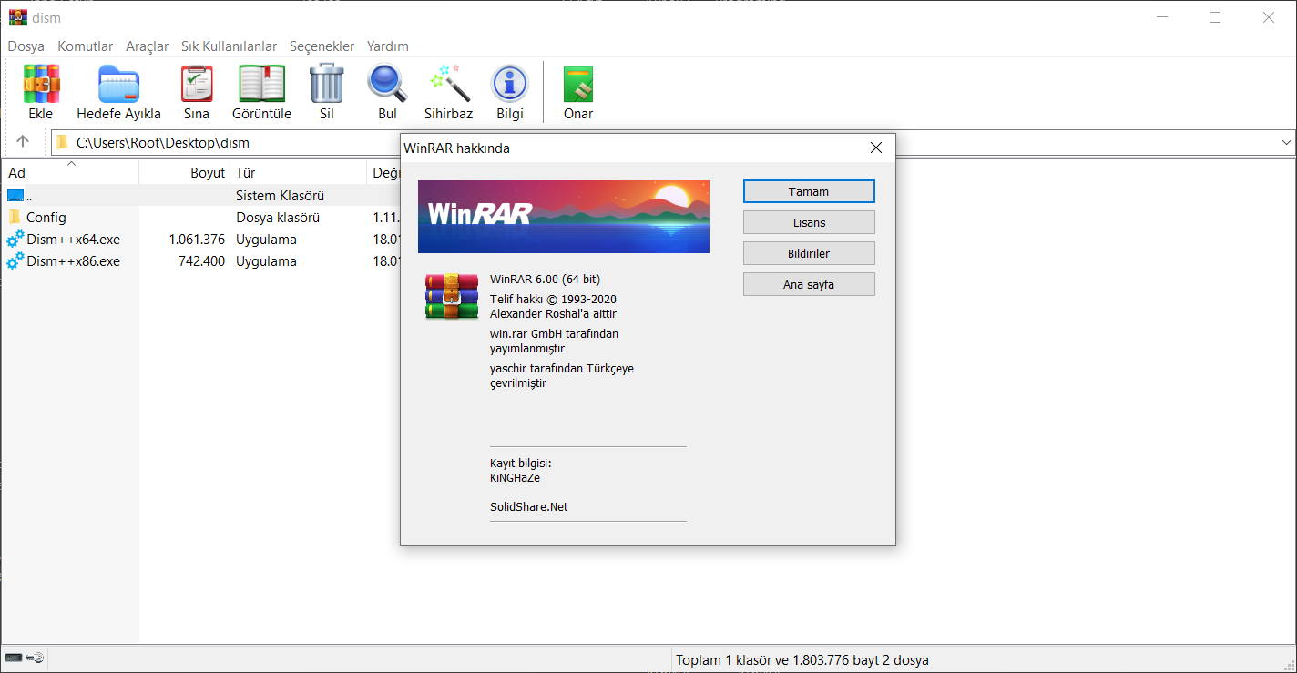 WinRAR 6.01 | EN | TR | Katılımsız