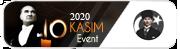 10 Kasim 2020 Anma Etkinl - 10 Kasim etkinligine aktilan uyelerimize verilir.