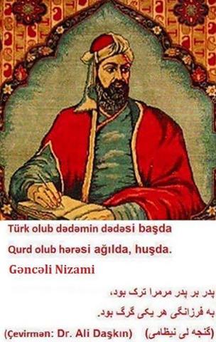 TARİXİMİZLƏ MARAQLANANLARIN MENYÜSÜNƏ: Nizami Gəncəvi Qurdlar tayfasındandır...