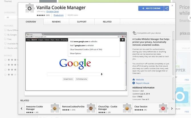 Vanilla Cookie Manager