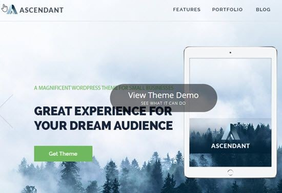 Ascendant multi purpose free WordPress Theme