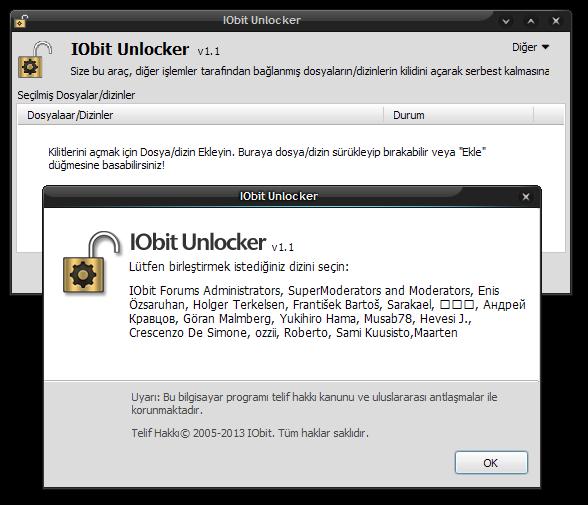 IObit Unlocker 1.1 Final TR | Katılımsız