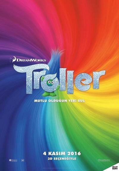 Troller - Trolls 2016 BRRip XViD Türkçe Dublaj Tek Link Film indir
