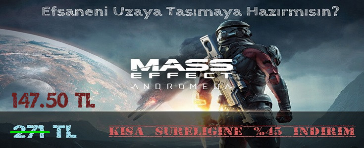 Mass Effect:Andromeda %45 Indirim ile AtaGame'de