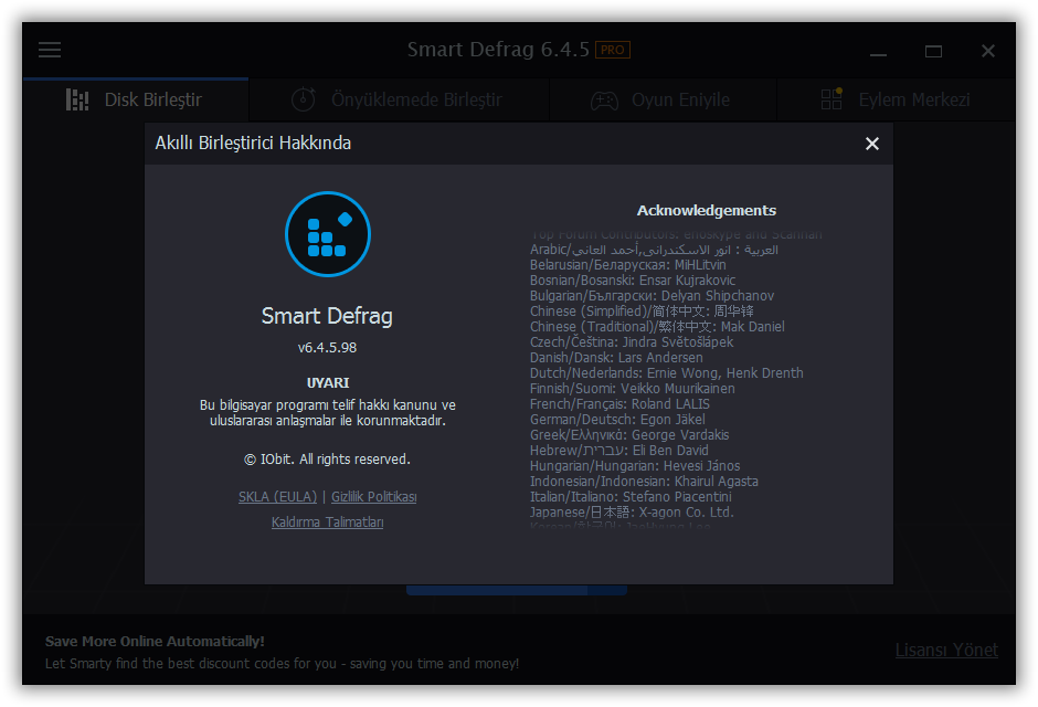 IObit Smart Defrag Pro 6.4.5.98 | Katılımsız