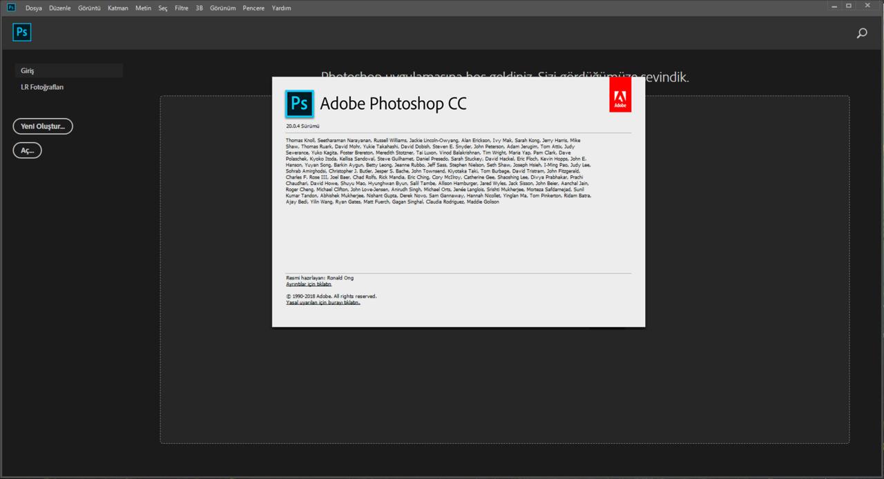 Adobe Photoshop CC 2019 20.0.4 (x64) | Katılımsız