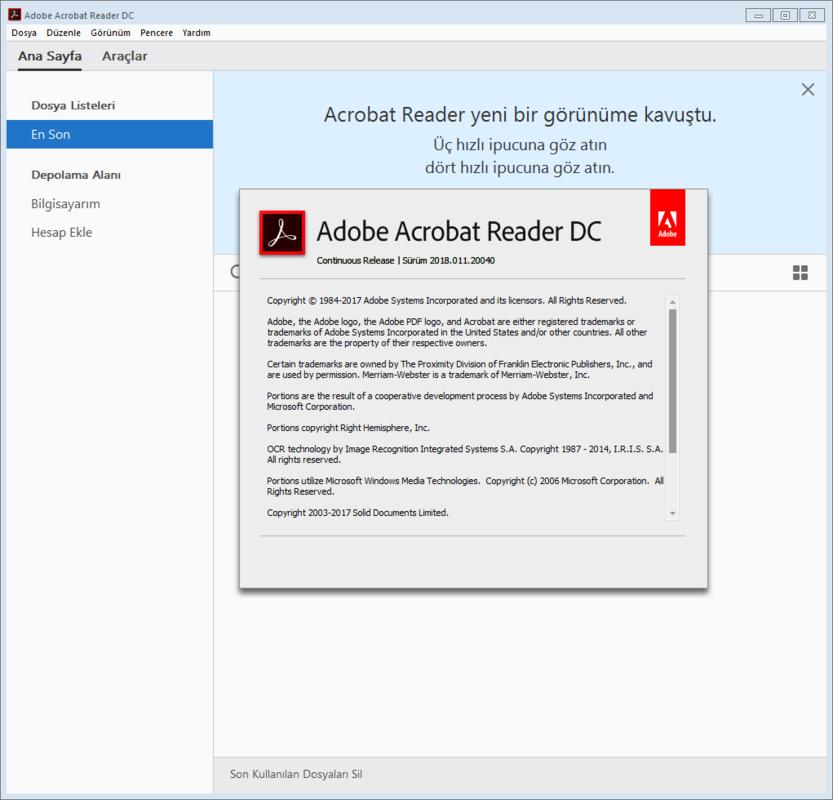 Adobe Acrobat Reader DC 2020.006.20034 | Katılımsız