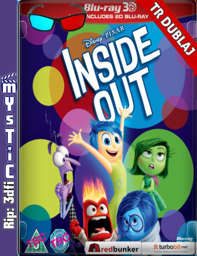 Inside Out 3d – Ters Yüz 3d 2015 ( BluRay m1080p 3d) Türkçe Dublajlı 3 boyutlu film indir