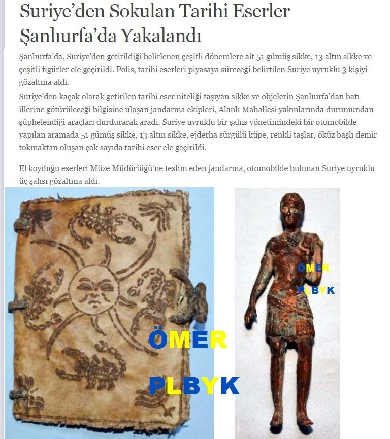 Suriye'den Sokulan Tarihi Eserler Şanlıurfa'da
