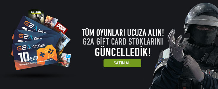 %10 Indirimli G2A Gift Card Stoklarimiz Güncellendi !