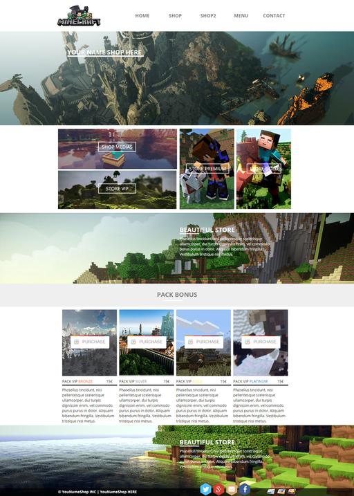 Minecraft Server Website Template HTML CSS