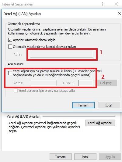 Server 2012 Proxy Ayarı Gizliliği – Windows Server