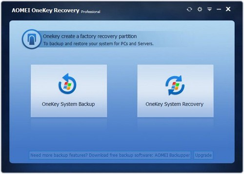 AOMEI OneKey Recovery Professional 1.6.1 Full İndir
