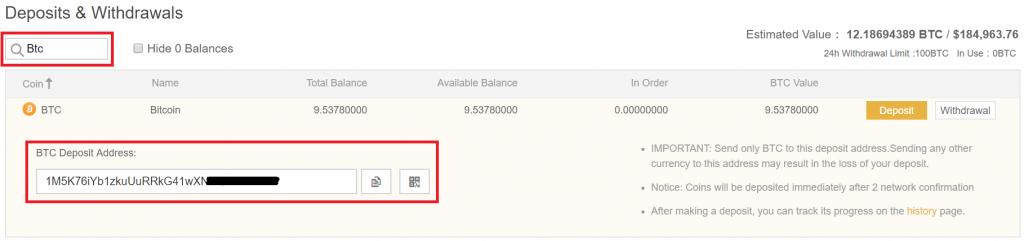 Binance Bitcoin Yatırma 1024X241