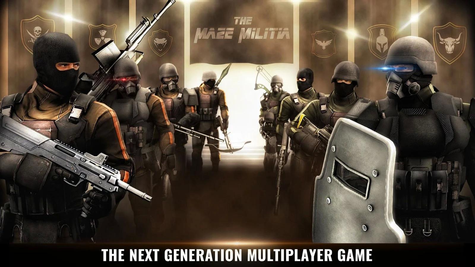 MazeMilitia: LAN, Online Multiplayer Shooting Game Apk