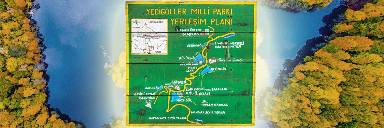 yedigöller yerleşim planı, yedigöller göl isimleri