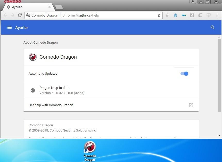 Comodo Dragon 63.0.3239.108 Türkçe | Katılımsız