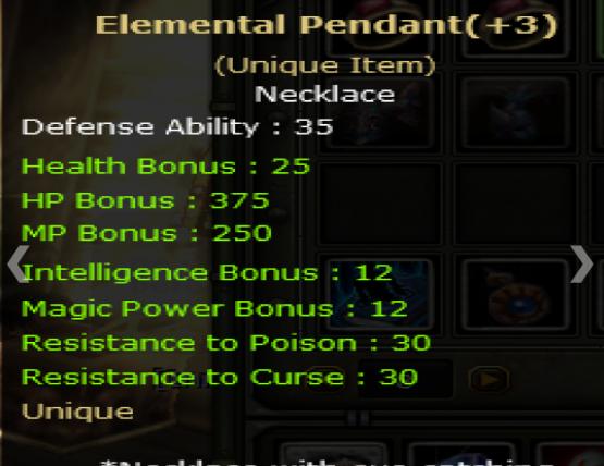 +3 Elemantel Pendant