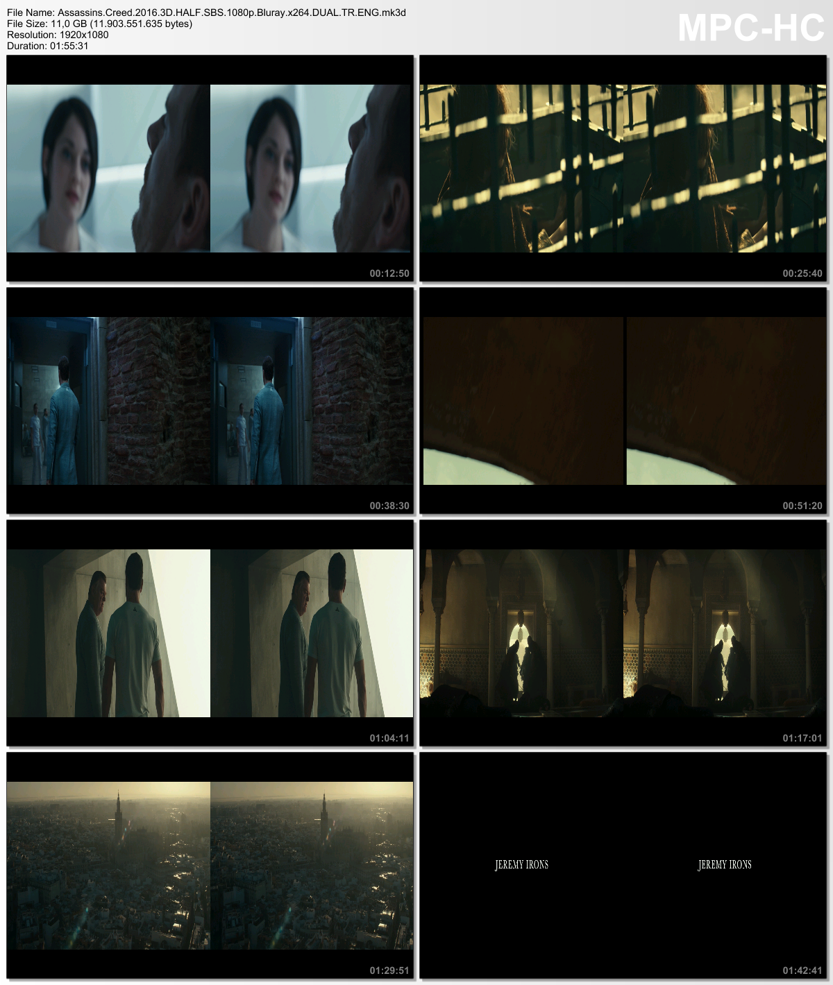 Assassin's Creed 2016 ( 3D BluRay 720p - 1080p - BRRip ) DuaL TR-ENG