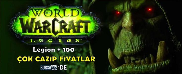 World Of WarCraft: Legion + 100  Cazip Fiyatlarla BursaGB 'de