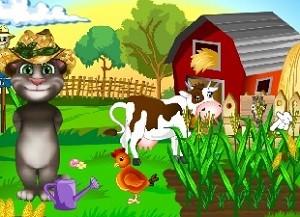 Talking Tom Çiftlikte oyna oyunu