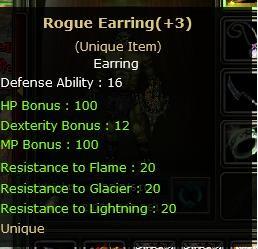 +3 ROGUE EARRING
