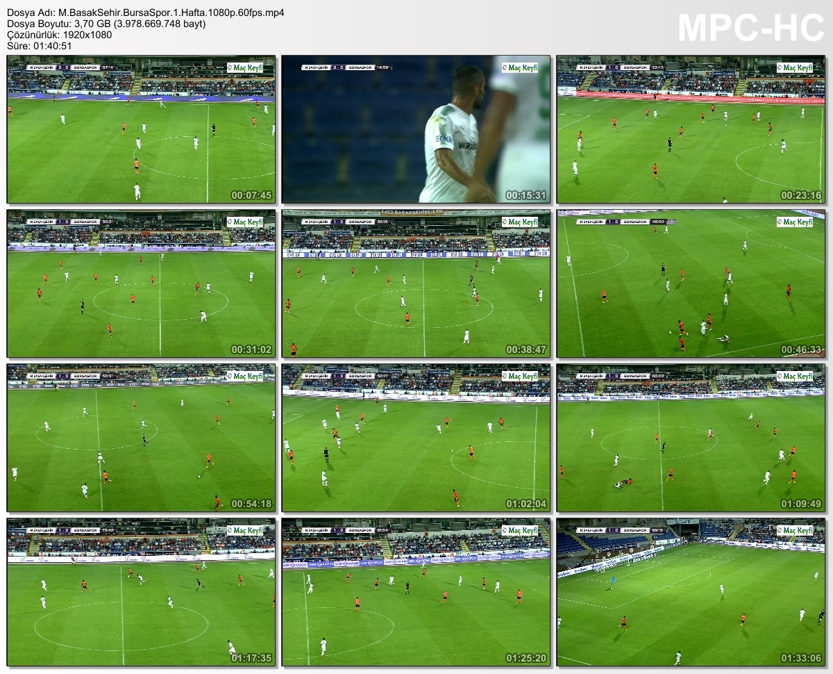 Süper Lig 2017-2018 HDTV 720p - 1080p (Medipol Başakşehir - Bursaspor) - VKRG