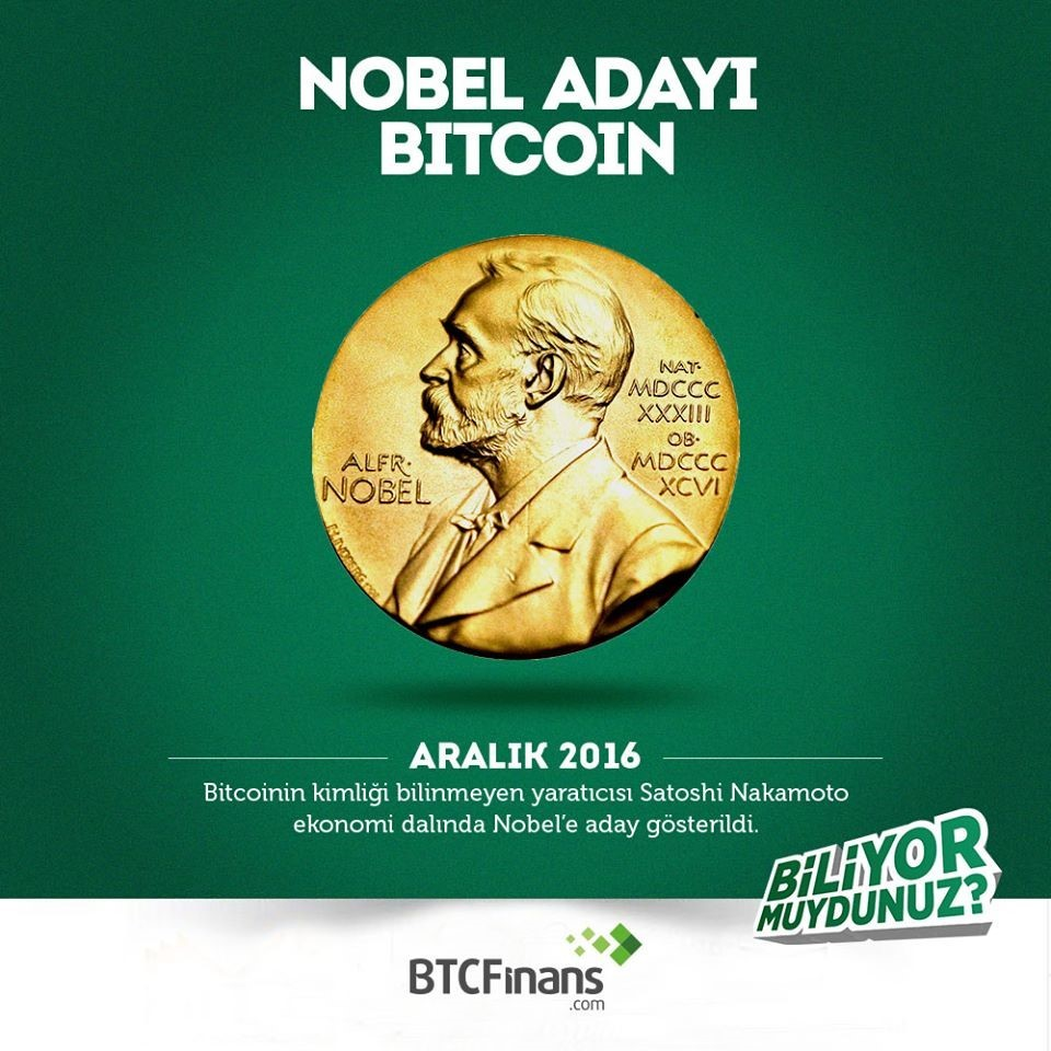 Nobel Adayı Bitcoin