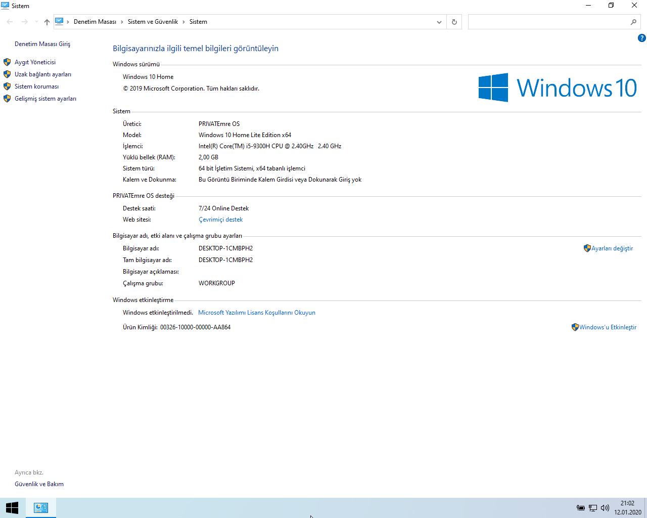 Windows 10 Home 1909 18363.535 | Lite | X64