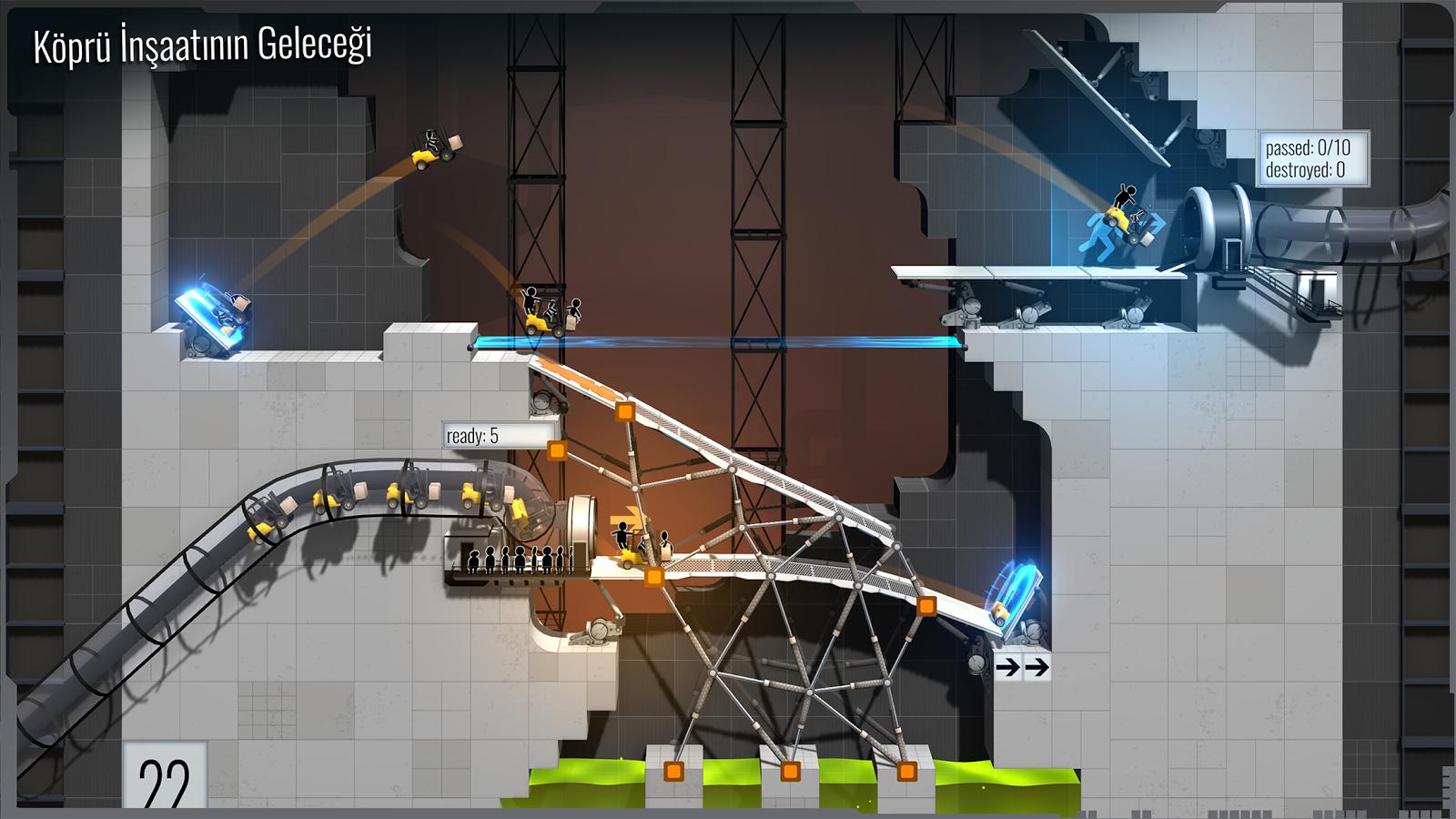 Bridge Constructor Portal Android Oyun