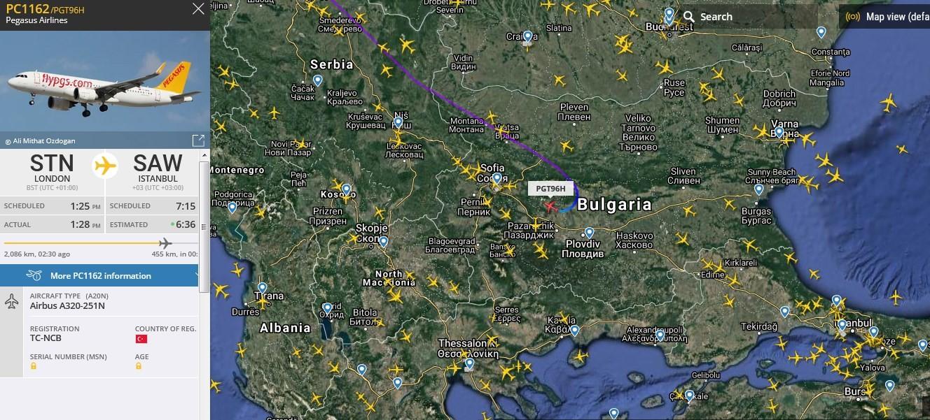 Goklerdeyiz Havacilik Sitesi Pegasus Londra Istanbul Ucagi Acil Durum Bildirdi