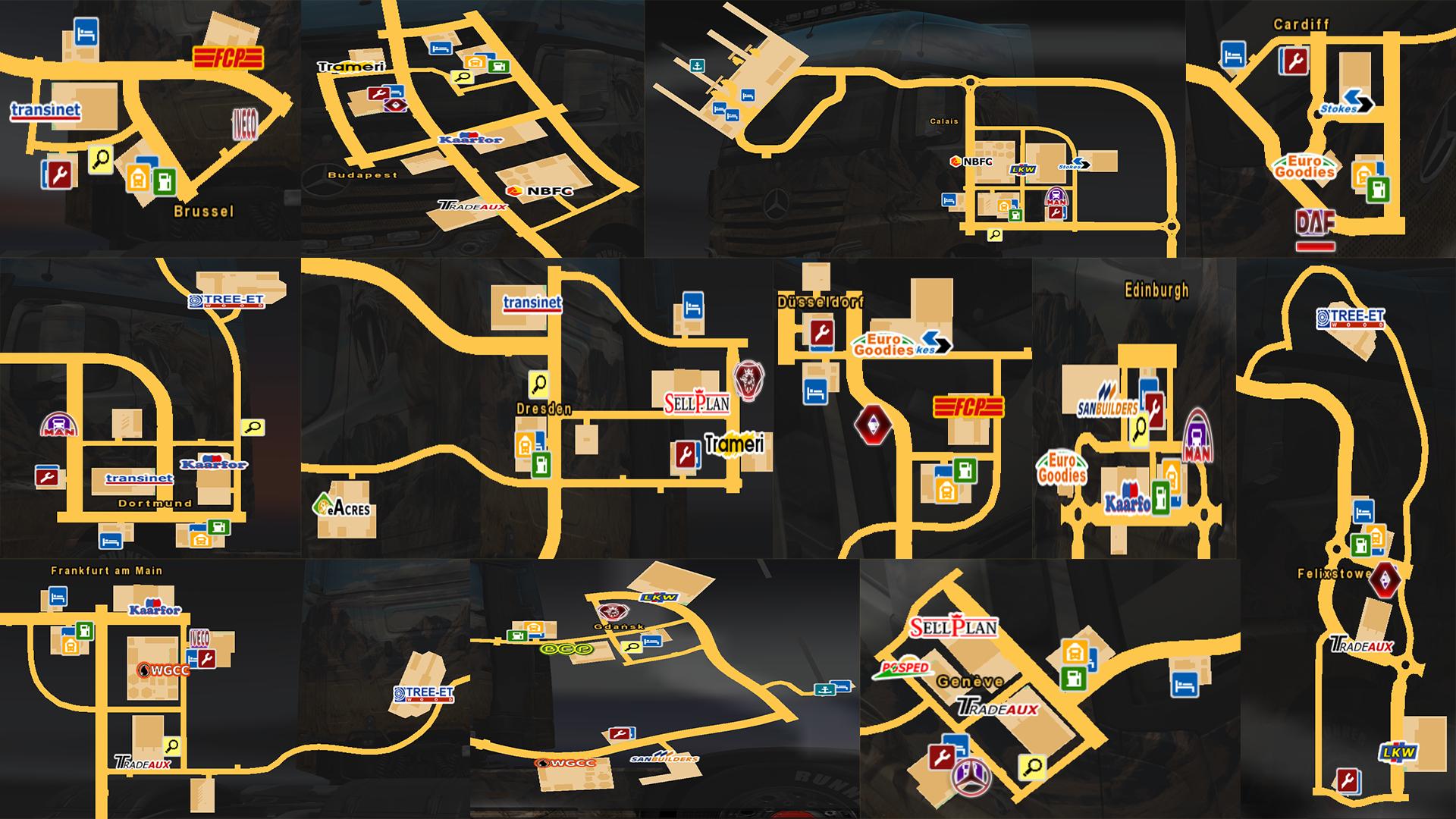 tır galerilerinin harita Üzerindeki yerleri | world of trucks