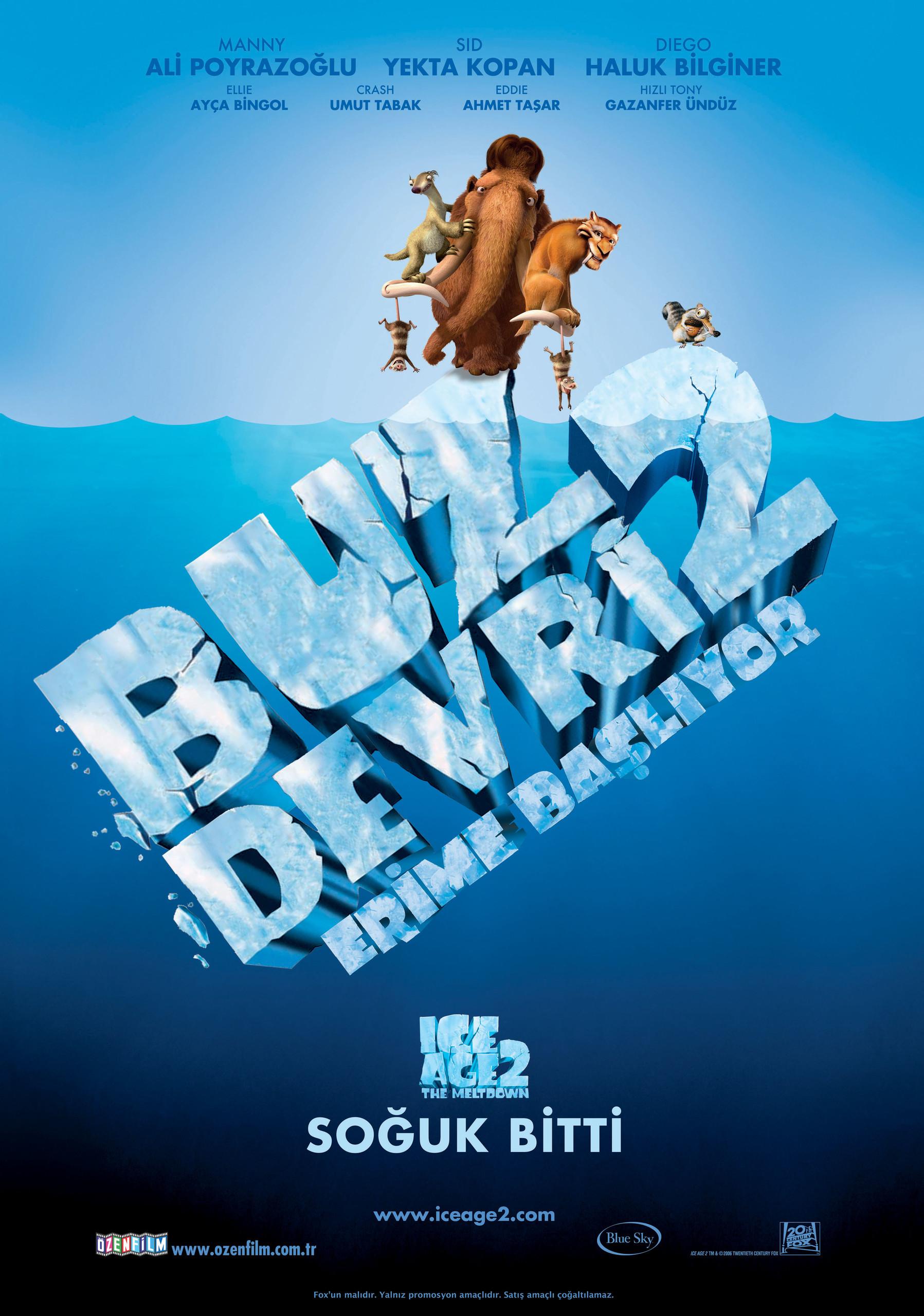 Buz Devri 2 - Erime Ba�l�yor / T�rk�e Dublaj / Online Animasyon Film �zle