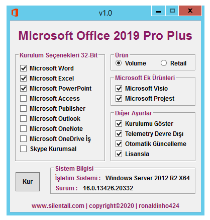 Microsoft Office 2019 | Pro Plus | Visio | Project | X86 | TR | 26 Ocak 2021 cover